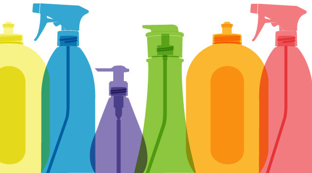 Spray cleaners can damage your health